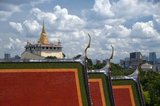 Wat Saket Ratcha Wora Maha Wihan (usually Wat Saket) dates back to the Ayutthaya era, when it was called Wat Sakae. King Rama I (1736 - 1809) or Buddha Yodfa Chulaloke renovated the temple and renamed it Wat Saket. The Golden Mount (Phu Khao Thong) is a steep hill inside the Wat Saket compound. It is not a natural outcrop, but an artificial hill built during the reign of Rama III (1787 - 1851) or King Jessadabodindra.